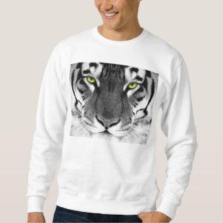 トラの顔-白いトラ-目のトラ-トラ スウェットシャツ