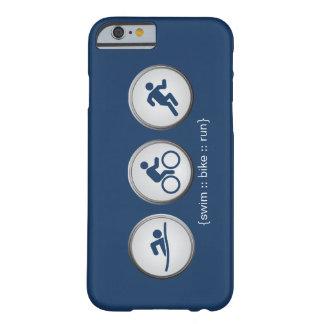 トライアスロンによって水泳バイク走られるiPhone6ケース(海軍) Barely There iPhone 6 ケース