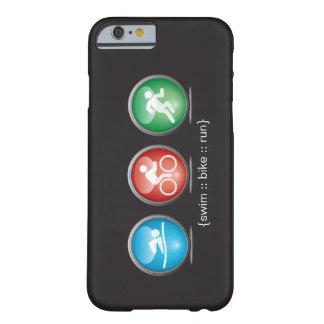 トライアスロンによって水泳バイク走られるiPhone6ケース(白い) Barely There iPhone 6 ケース