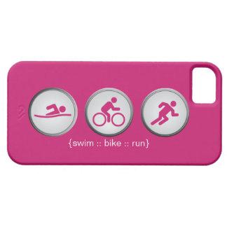 トライアスロンによって水泳バイク走られるiPhone 5の場合(ピンク) iPhone SE/5/5s ケース