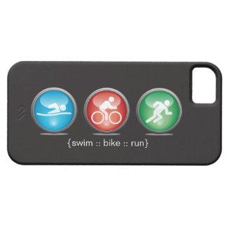 トライアスロンによって水泳バイク走られるiPhone 5の場合(白い) iPhone SE/5/5s ケース