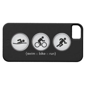トライアスロンによって水泳バイク走られるiPhone 5の場合(黒) iPhone SE/5/5s ケース
