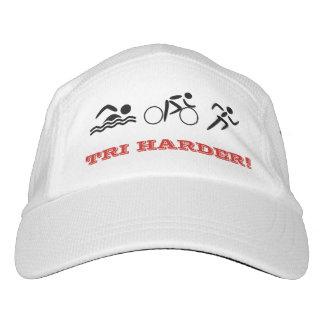 トライアスロンのおもしろいの引用文のカスタムな文字のスポーツ ヘッドスウェットハット