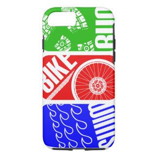 トライアスロンの三水泳のバイクの操業 iPhone 8/7ケース
