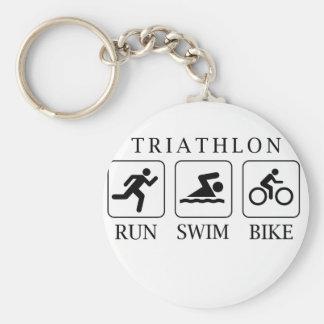 トライアスロンの操業、水泳およびバイク キーホルダー
