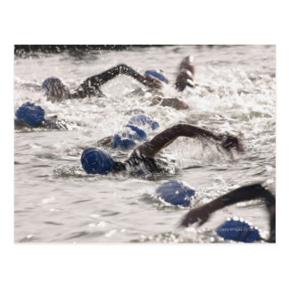 トライアスロンの水泳の足で競うTriathletes ポストカード