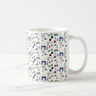 トライアスロンの落書き コーヒーマグカップ