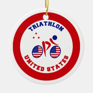 トライアスロン米国 セラミックオーナメント