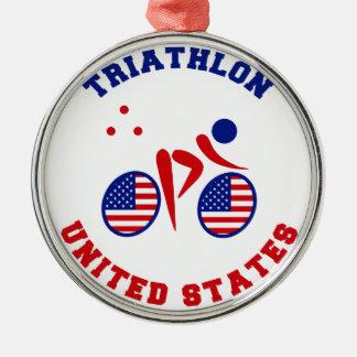 トライアスロン米国 メタルオーナメント