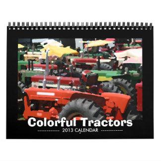 トラクターのカレンダー: カラフルなトラクター(2013年) カレンダー