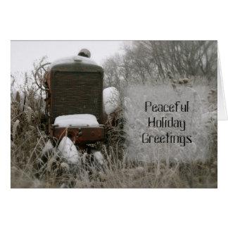 トラクターのクリスマスカード: 平和 カード