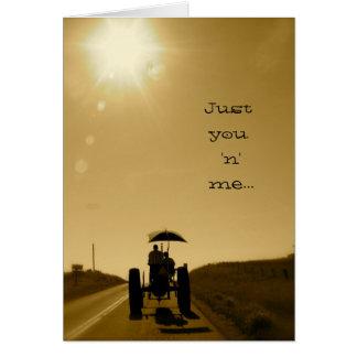 トラクターのバレンタインカード: ちょうど「n」私 カード