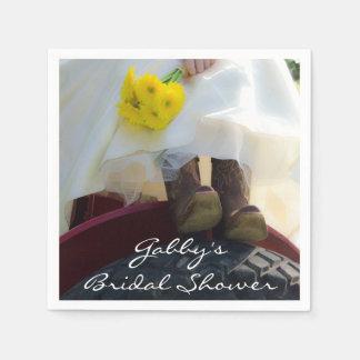 トラクターの国の農場のブライダルシャワーの花嫁 スタンダードカクテルナプキン