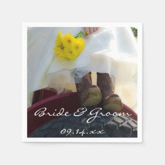 トラクターの国の農場の結婚式の花嫁 スタンダードカクテルナプキン