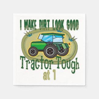 トラクターの堅い第1誕生日 スタンダードカクテルナプキン