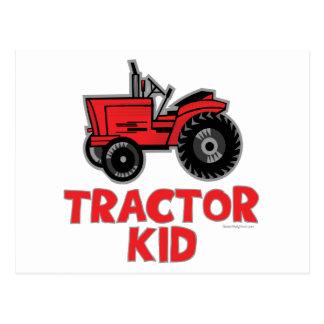 トラクターの子供 ポストカード