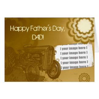トラクターの父の日カード: あなたの写真を加えて下さい カード