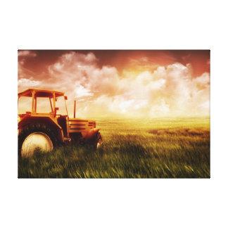トラクターの耕すこと キャンバスプリント