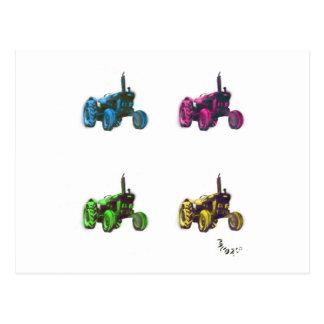 トラクターの虹 ポストカード