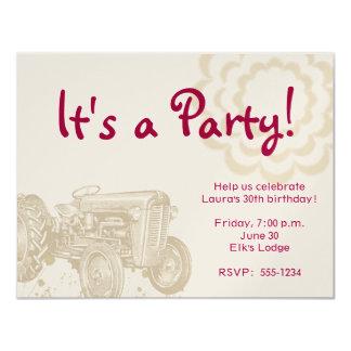 トラクターの誕生日のパーティの招待状 カード