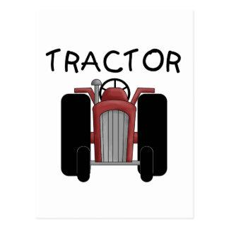 トラクターの赤いTシャツおよびギフト ポストカード