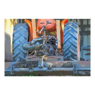 トラクター田園クイーンズランドオーストラリア芸術のプリント フォトプリント