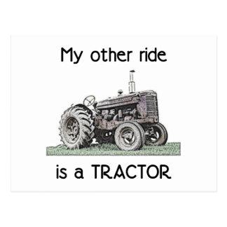 トラクター ポストカード