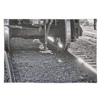 トラックに当る鉄道車両の車輪 ランチョンマット