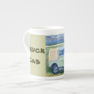 トラックのタクシーのマグ ボーンチャイナカップ