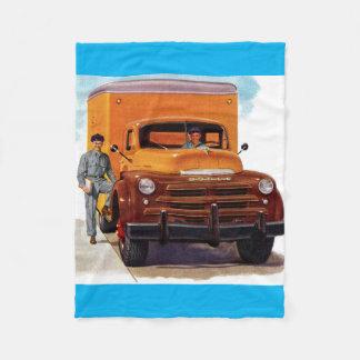 トラックのトラック運転手のtruckin」 フリースブランケット