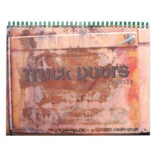 トラックのドアのカレンダー1 カレンダー