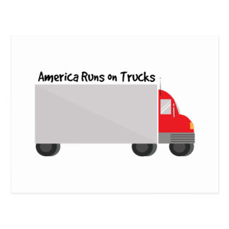 トラックの操業 ポストカード