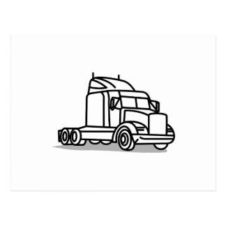トラックの輪郭 ポストカード