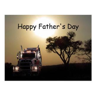 トラックの運転手の父の日 ポストカード