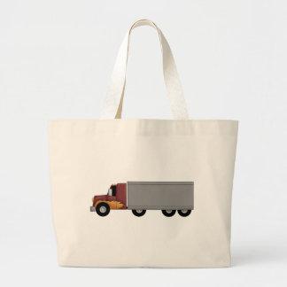 トラックの運転手 ラージトートバッグ
