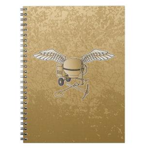 トラックミキサベージュ色 ノートブック