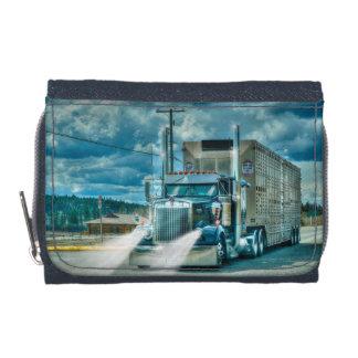 トラック恋人のための青く大きい装備の家畜運搬車の芸術