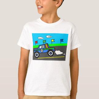 トラック漫画のイメージのレースカー Tシャツ