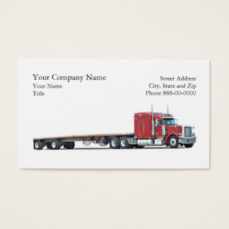 トラック運転手のトラック運送の名刺 名刺