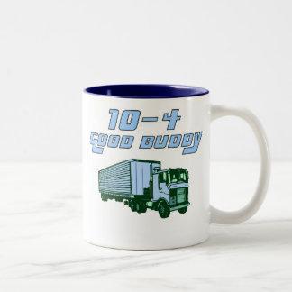 トラック運転手のマグ10-4のよい相棒 ツートーンマグカップ