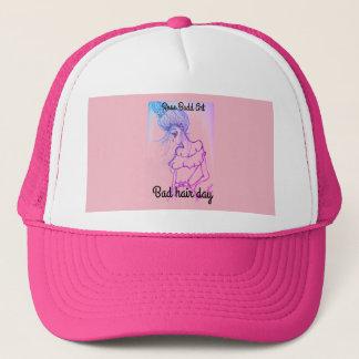 トラック運転手の帽子、ピンク、悪い毛日 キャップ