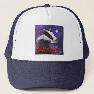 トラック運転手の帽子-決してアナグマの傷ものを忘れないで下さい キャップ
