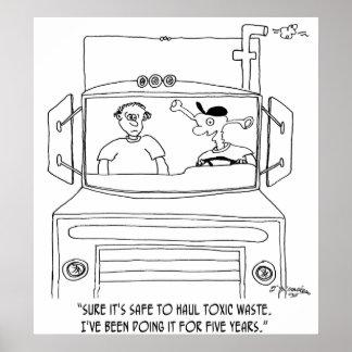 トラック運転手の漫画7395 ポスター