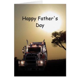 トラック運転手の父の日 カード