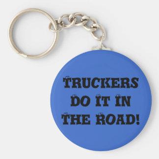 トラック運転手は道のそれをします! キーホルダー