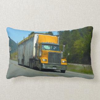 トラック運転手及びトラック恋人のための黄色い貨物貨物自動車 ランバークッション