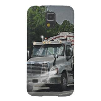 トラック運転手及び子供のための灰色の牛供給の水槽のトラック GALAXY S5 ケース