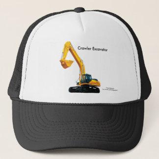 トラック運転手帽子のためのクローラー掘削機のイメージ キャップ