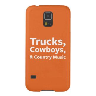 トラック、カウボーイおよびカントリーミュージック GALAXY S5 ケース