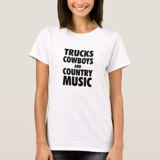 トラック、カウボーイおよびカントリーミュージック Tシャツ